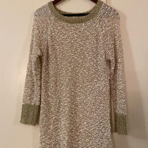 Sparking tunic sweater dress